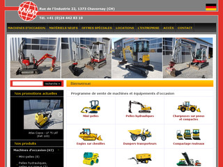 Ramat Sàrl, machines de chantier